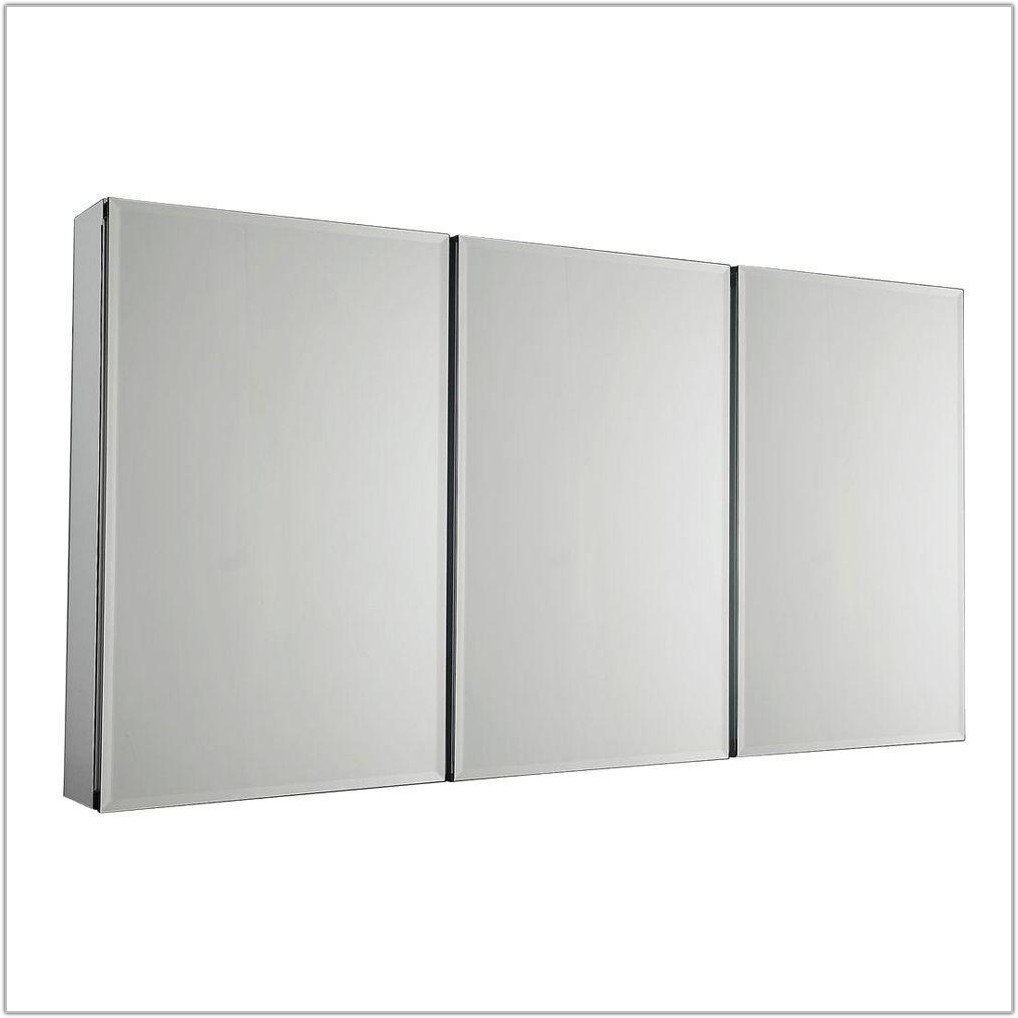 Large Mirrored Bathroom Wall Cabinet
