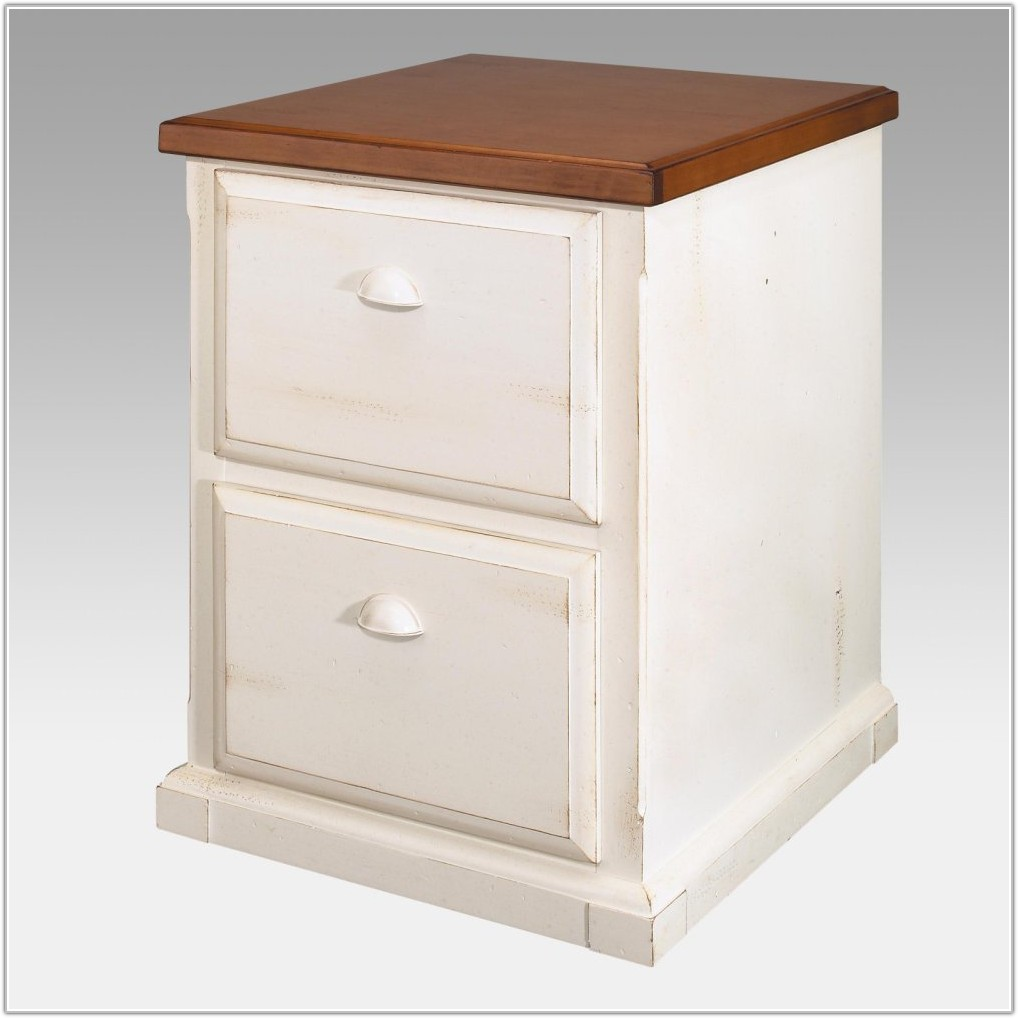 Lateral File Cabinet White Wood