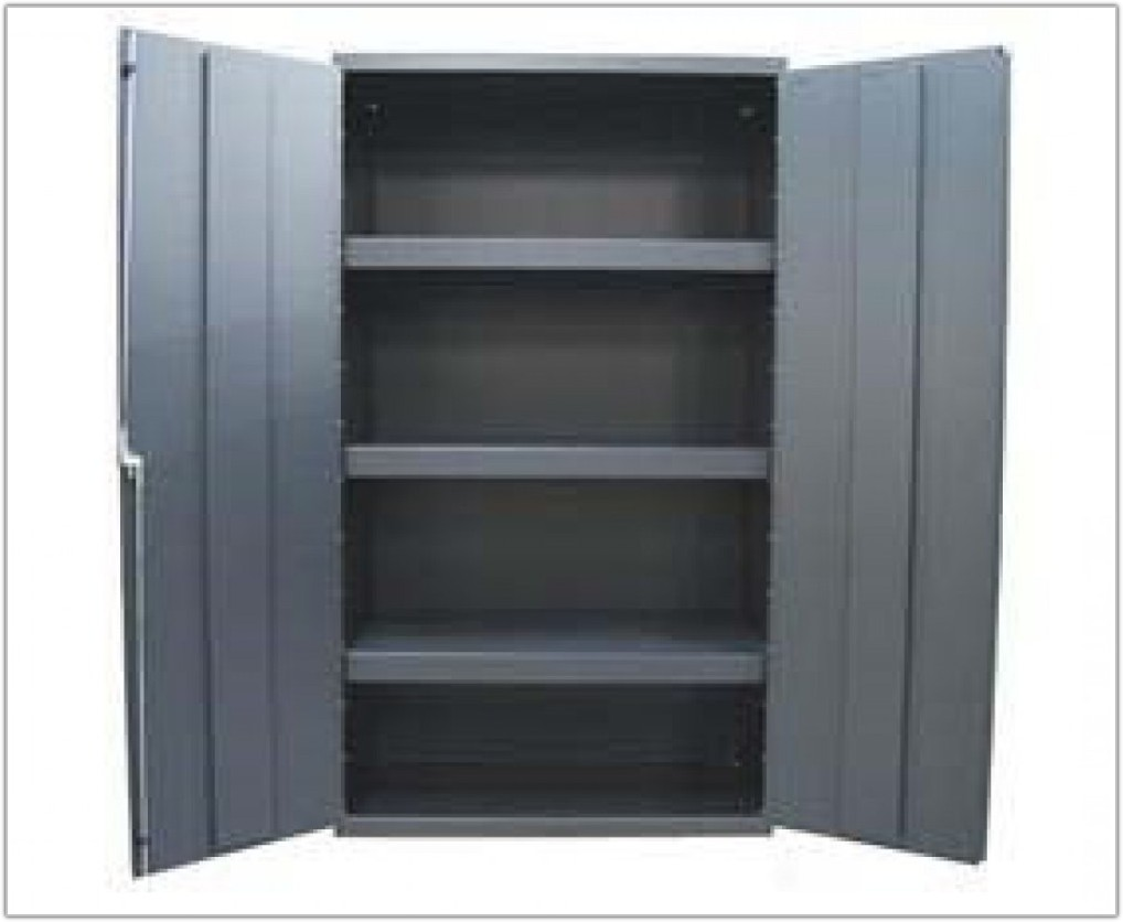 Metal Storage Cabinet With Bins
