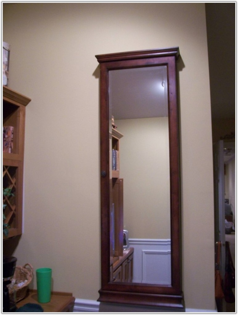 Mirror Wall Mount Jewelry Armoire