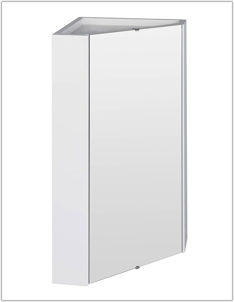 Mirrored Corner Bathroom Wall Cabinet