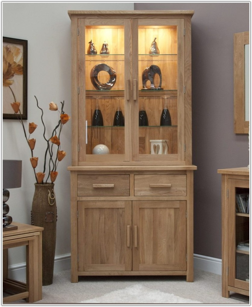 Oak Corner Cabinet Dining Room