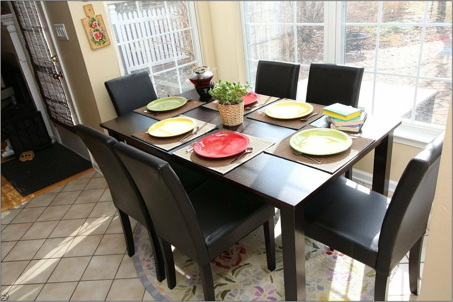 Espresso Dining Room Table Set