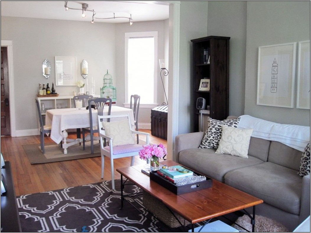 Living Room and Dining Room Combined
