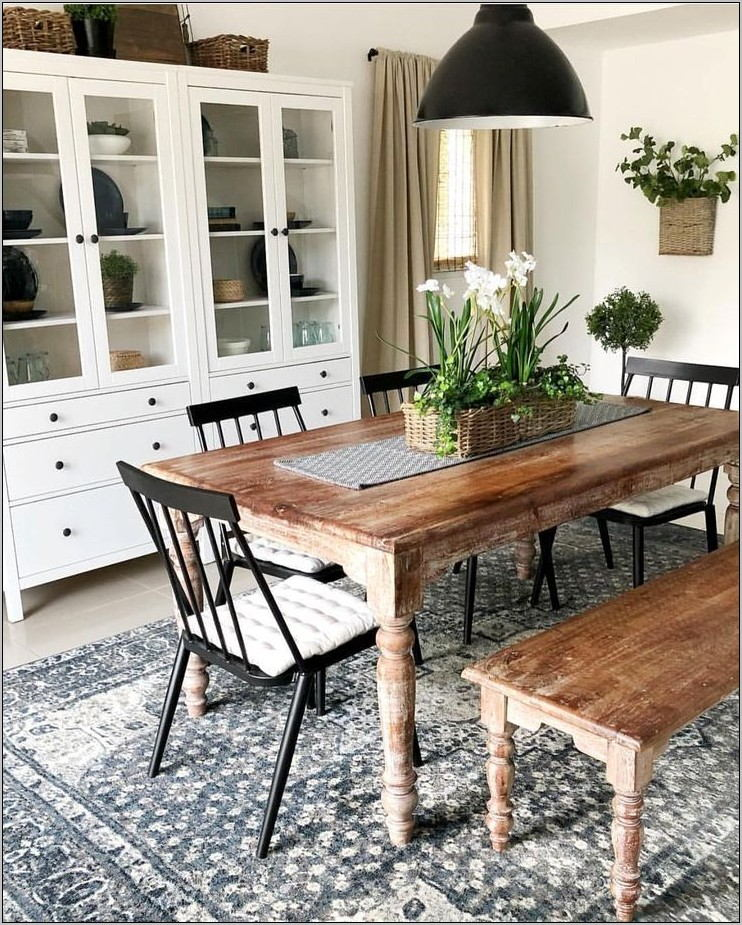 White Dining Room Rug