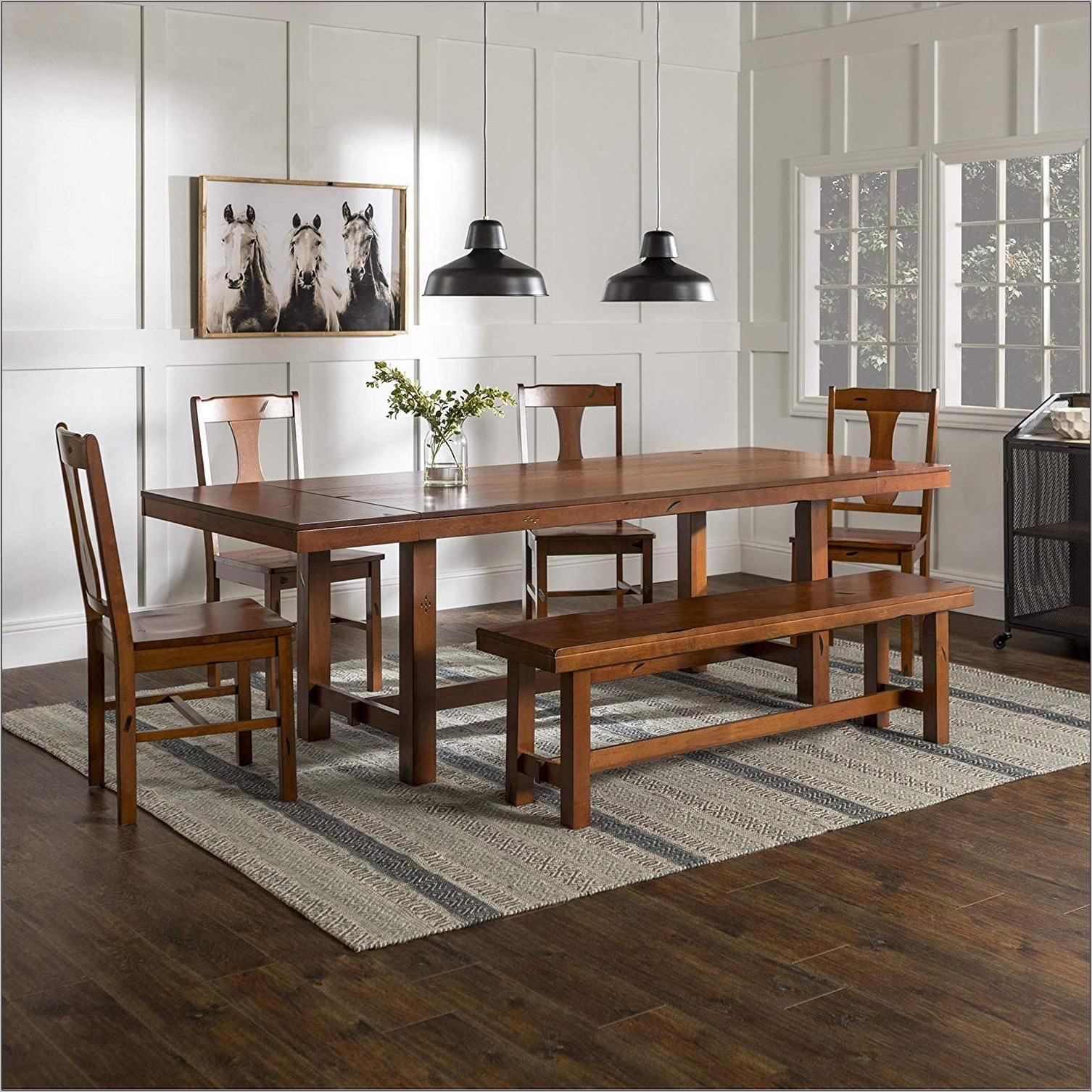 Wood Dining Room Table Set