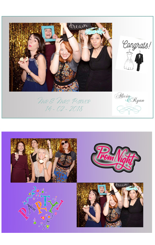 Photo booth hire chichester Premuim layouts
