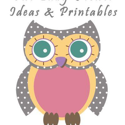 Baby Girl Owl Shower & Printables
