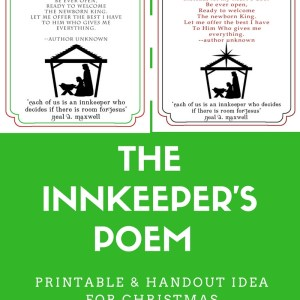 Innkeepers Poem Printable