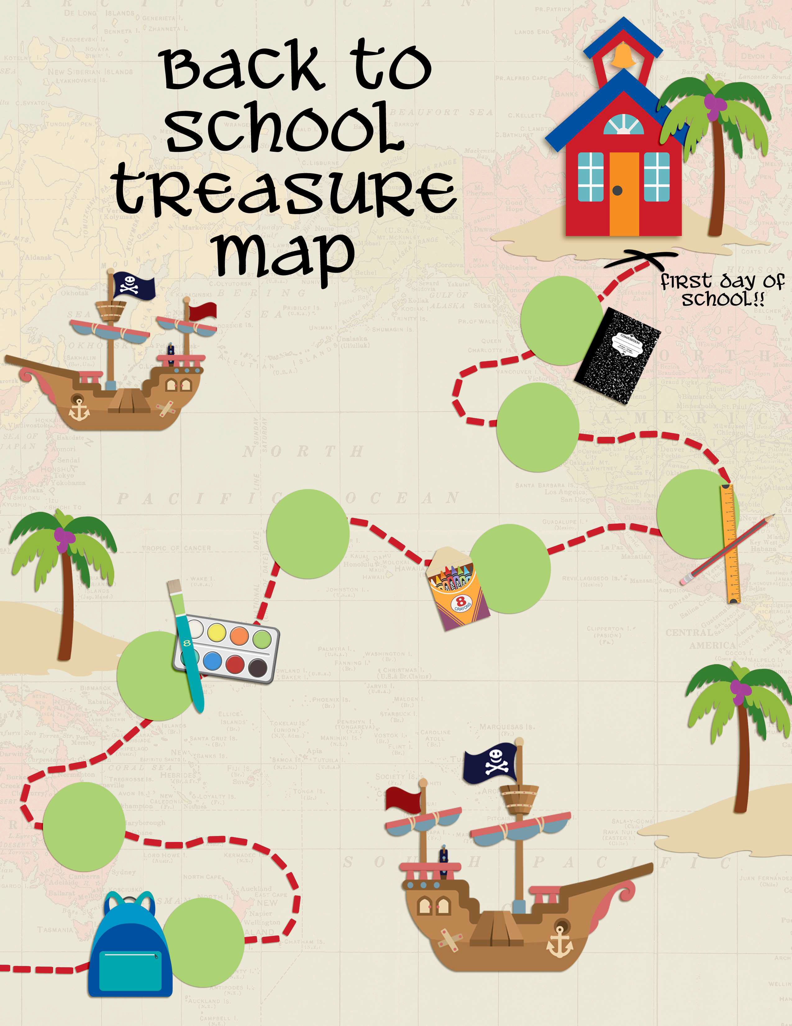 Back To School Treasure Map Your Everyday Family