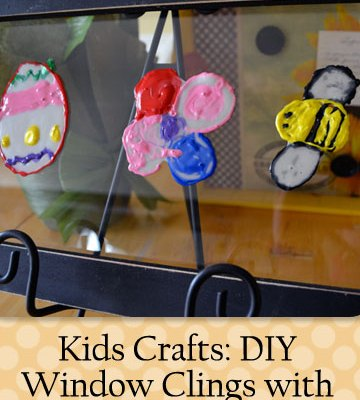 Kids Crafts: DIY Window Clings