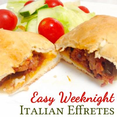Easy Weeknight Italian Effretes with Rhodes Rolls