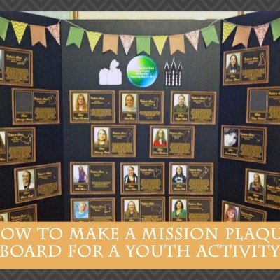 A Call to Serve: Making a Mission Plaque Board