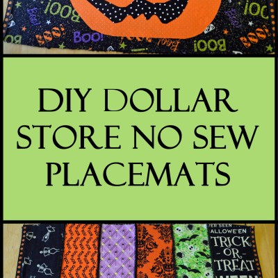 DIY Dollar Store No Sew Halloween Placemats