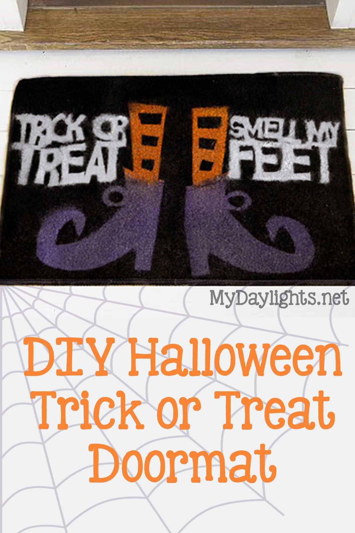 diy halloween door mat - your everyday family