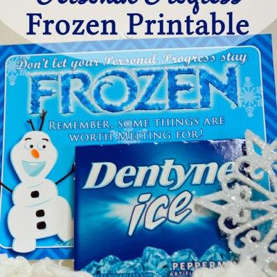 Frozen Personal Progress Handout