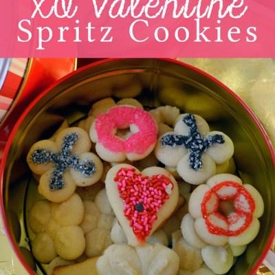 XO Valentine's Spritz Cookies