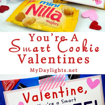 Smart Cookie Valentine Printable for Classrooms and Parties