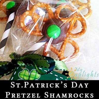 St. Patrick's Day Pretzel Shamrock