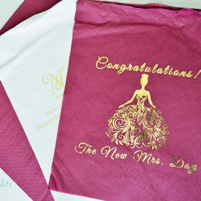 DIY Gold Foil Napkins