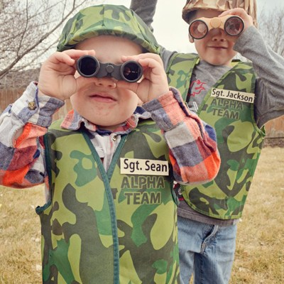 DIY Army Dress Up