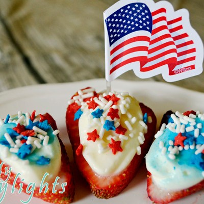 Patriotic Strawberry Lemon Bites