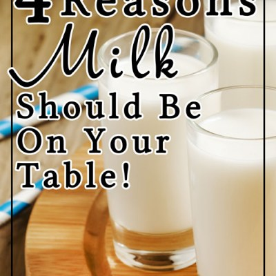 4 Reasons Milk Should Be On Your Table!