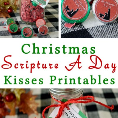 Christmas Scripture Chocolate Kisses Advent #LightTheWorld
