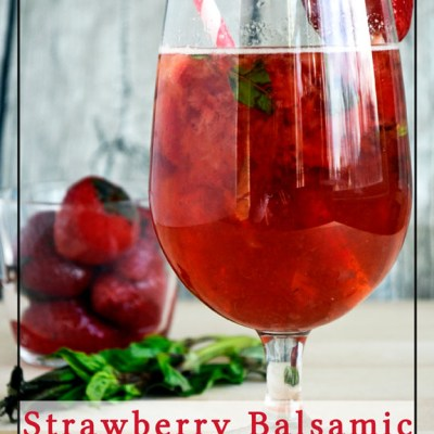 Sparkling Strawberry Balsamic Mocktail