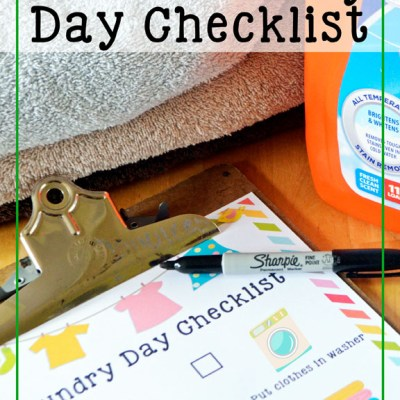 Kids' Laundry Tips & Checklist
