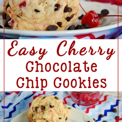 Easy Cherry Chocolate Chip Cookies