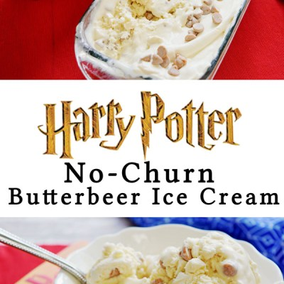 Harry Potter No-Churn Butterbeer Ice Cream