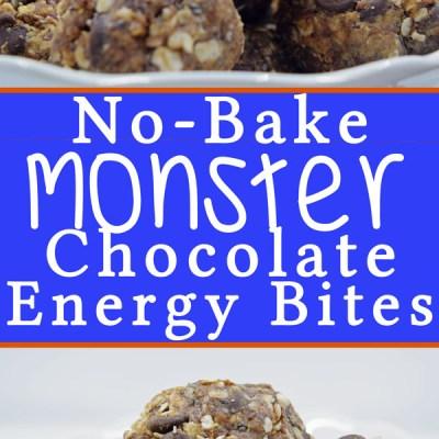 No-Bake Monster Chocolate Energy Bites