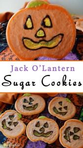 Jack O'Lantern Sugar Cookies