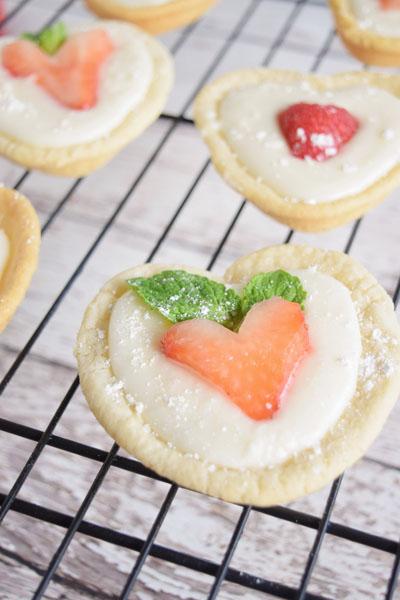 Sweetheart Fruit Tarts