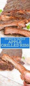 Sweet & Tangy Apple Grilled Ribs