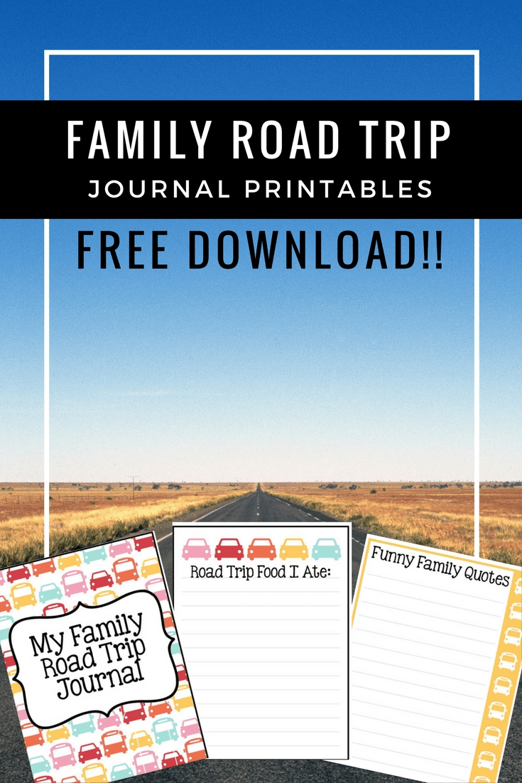 Family Road Trip Journal Printables: Free Download, Perfect for A Family Trip On the Road to Keep the Kids Busy!