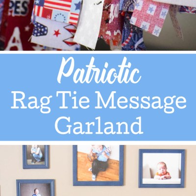 Patriotic Rag Tie Message Garland