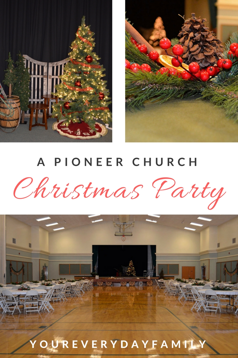 A Pioneer Church Christmas Party: Create a vintage Christmas party for your ward or church with some of these ideas!