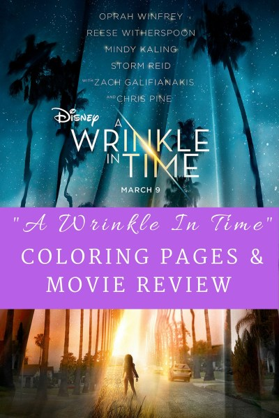 A Wrinkle In Time Coloring Pages & Movie Review