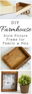 DIY Farmhouse Style Picture Frame for Cats, Pets, and Family Pictures!