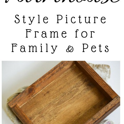 DIY Farmhouse Style Picture Frame for Cats and Pets