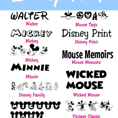 65+ Free Disney Fonts from the Movies & Parks