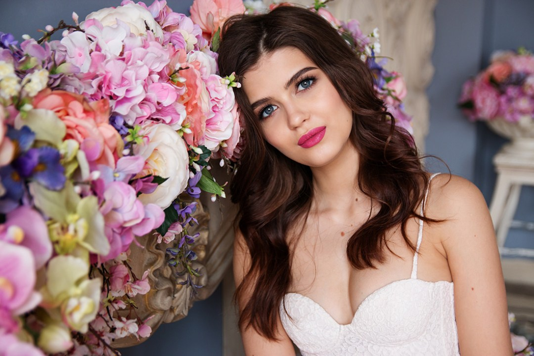 Bride with stunning flowers