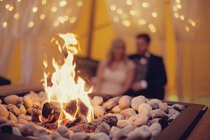 Fire at a Tipi Wedding - recently engaged help