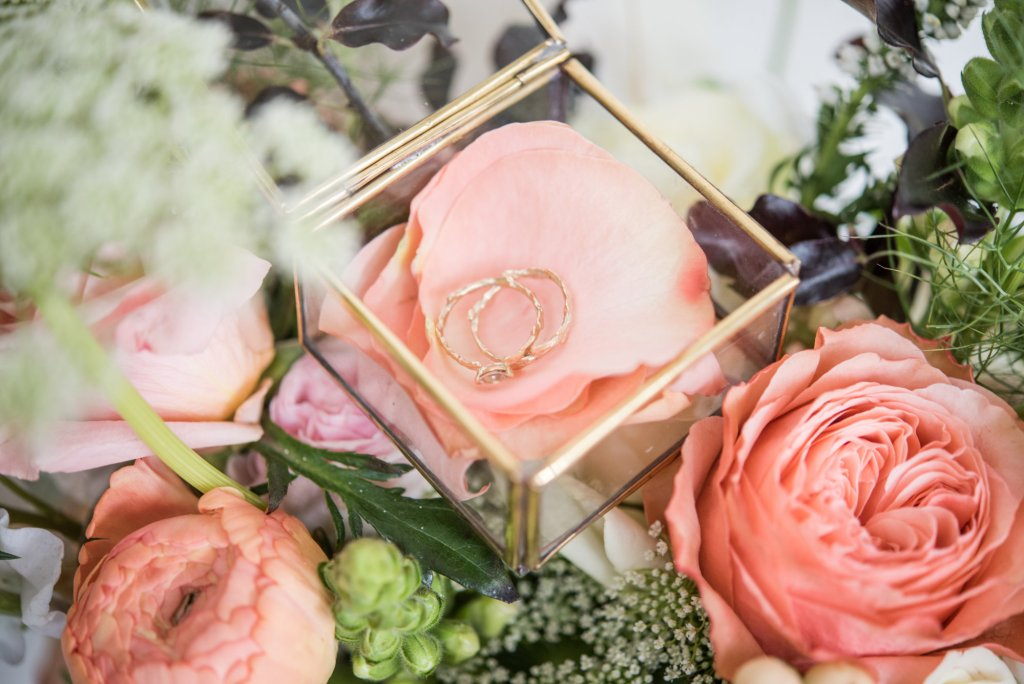 Wedding Rings in a Glass Box