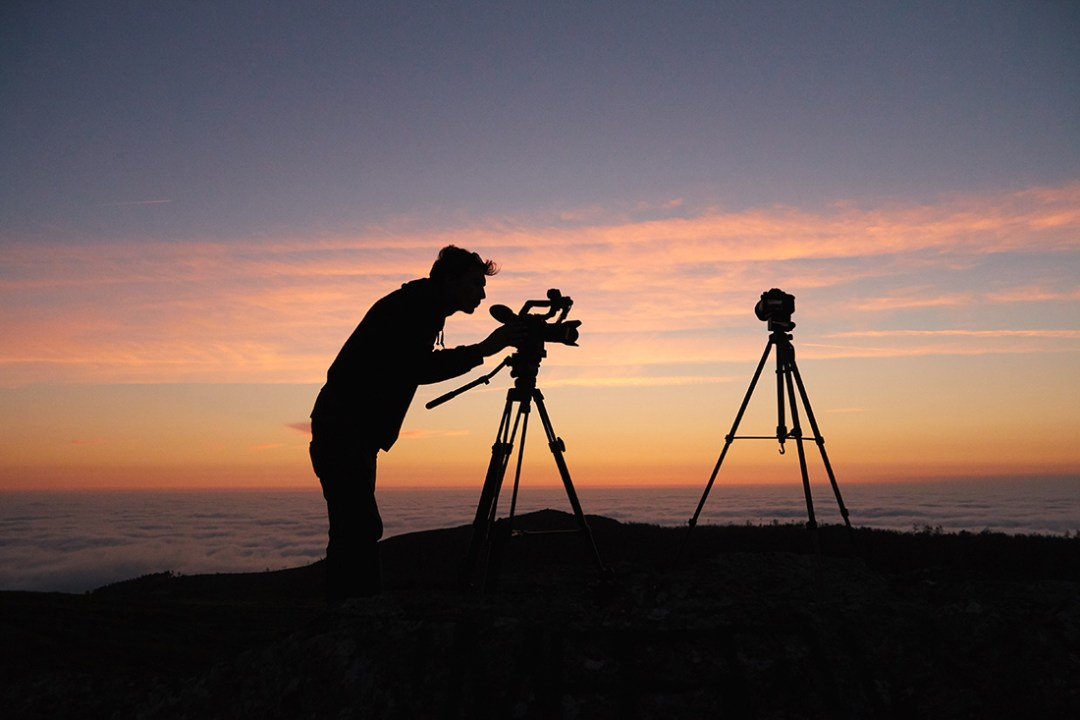 Photograpger at sunset