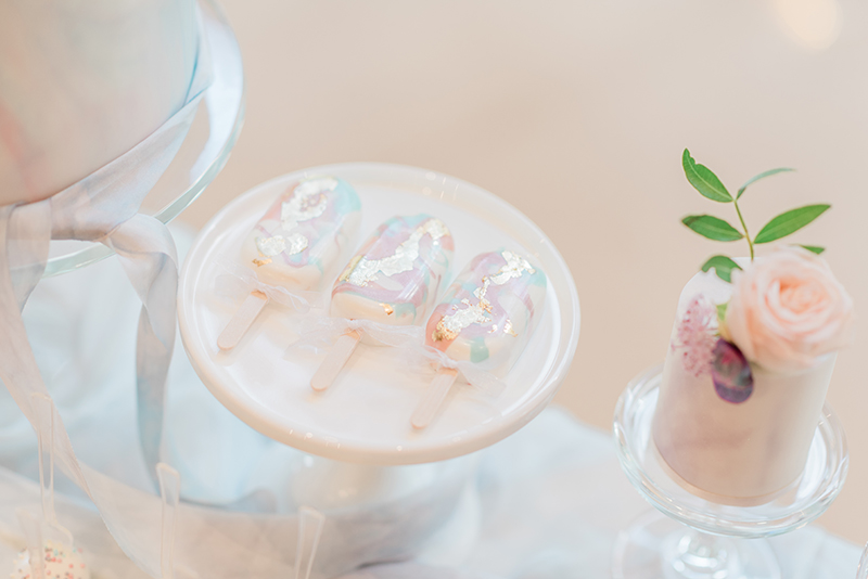 Pastel Luminescent Wedding Dessert Table