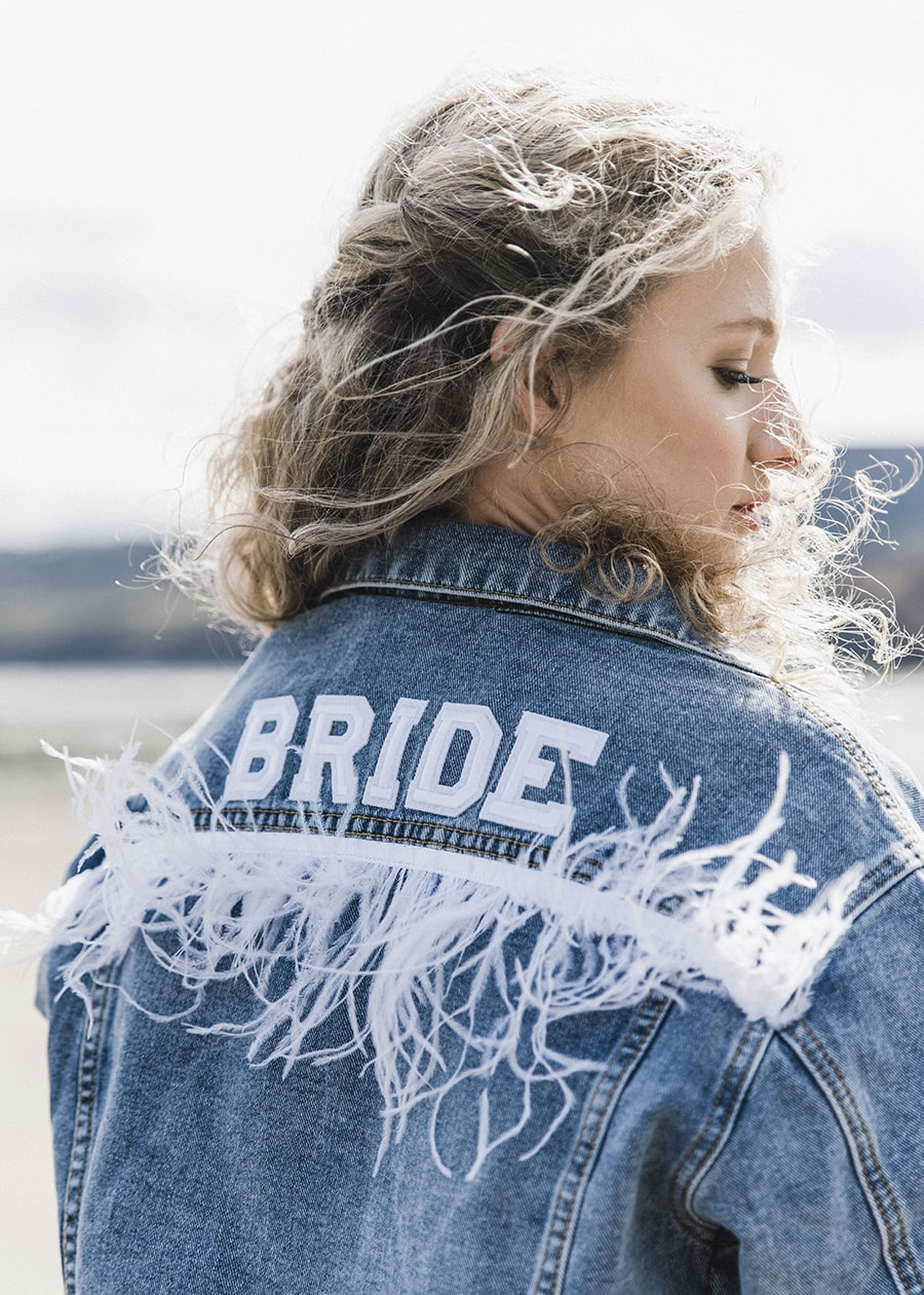 Denim Jacket Boho Beach Wedding