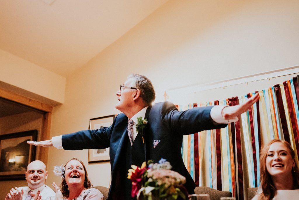 Speeches at Rosie & Scott's wedding, Red Lion Burnsall